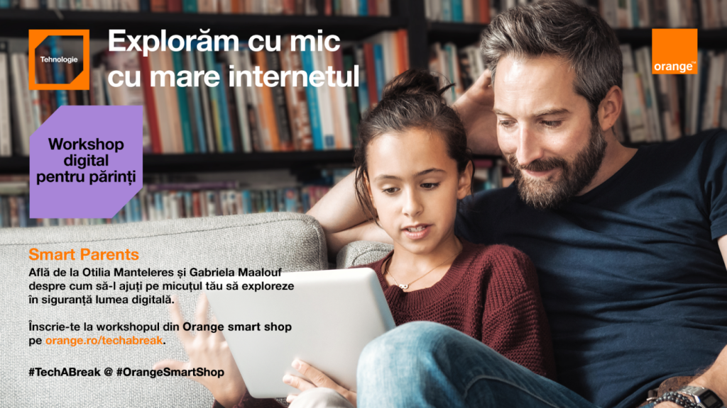 Platforma Tech a Break - Pauza de tehnologie din Orange smart shop